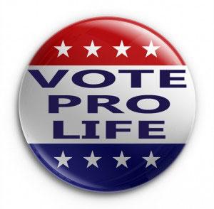 Vote Pro-Life badge