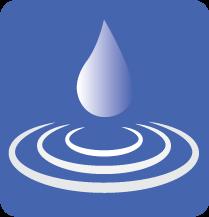 water drop ripples logo